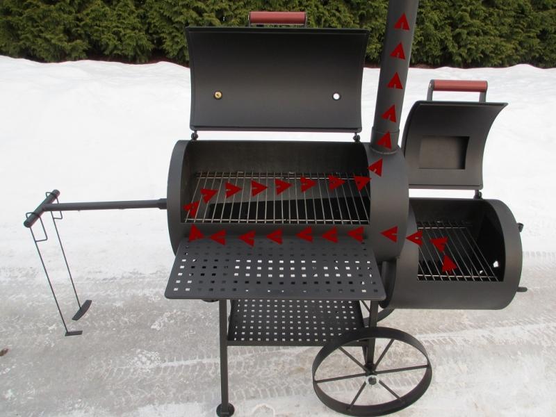 grill smoker 16 reverse flow 6 2 mm. Black Bedroom Furniture Sets. Home Design Ideas