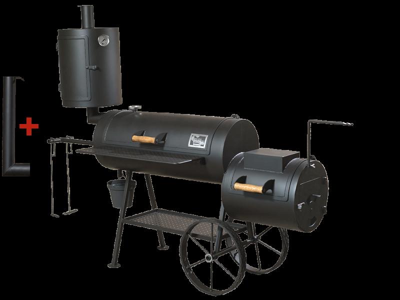 universelle smoker grill 16 long 8 mm mit r ucherkamin. Black Bedroom Furniture Sets. Home Design Ideas